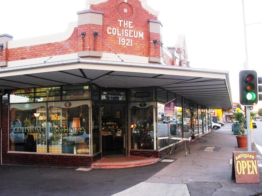 The Coliseum Shop front from the street
